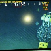 Detection unit at the seabed, wound on a spherical deployment frame